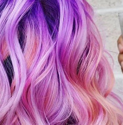 sunset millennial pink hair
