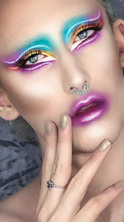 neon eye make-up trend