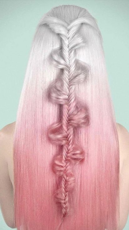rose gold hair trend