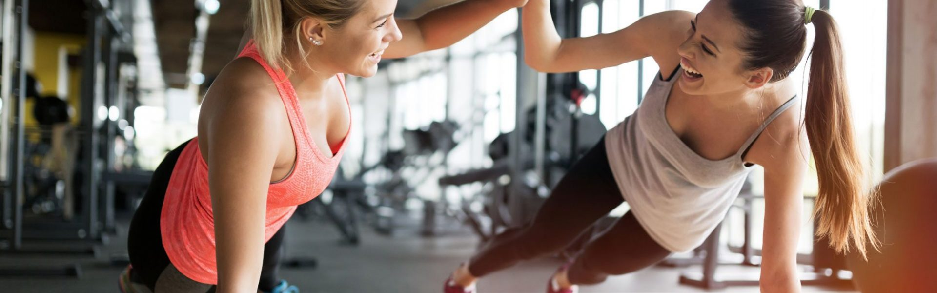 fitness insurance two ladies working out together