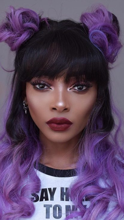 ultra violet hair trend