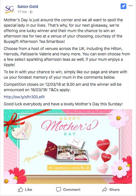 mothers day salon marketing ideas