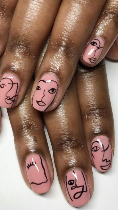 picasso nail art trend