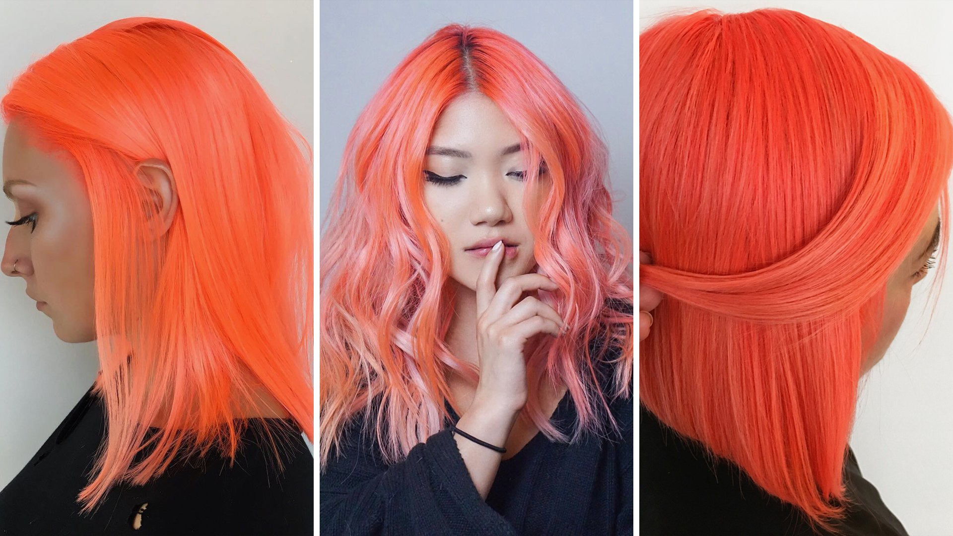 Neon Peach Hair is The Ultimate Summer Hair Trend Neon Peach Hair is The Ultimate Summer Hair Trend new photo
