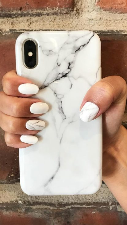 marble effect nail trend