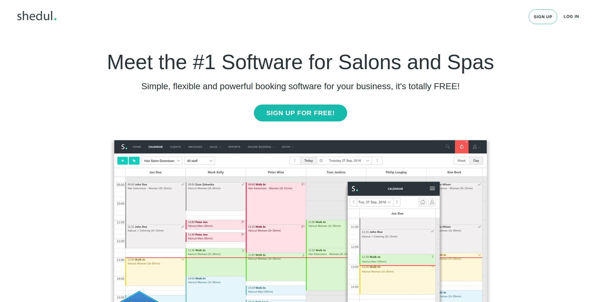 shedul salon software & app review