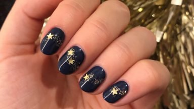 Christmas Stars Nail Step by Step