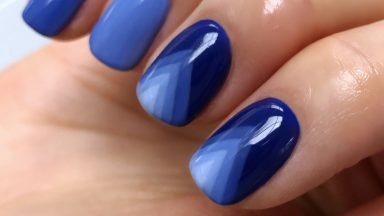NAIL INSPIRATION: How To Create A Pantone Classic Blue Nail Look Using GELLUX