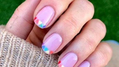How To Create Julie-Anne's Rainbow Hearts French Manicure using Salon System GELLUX