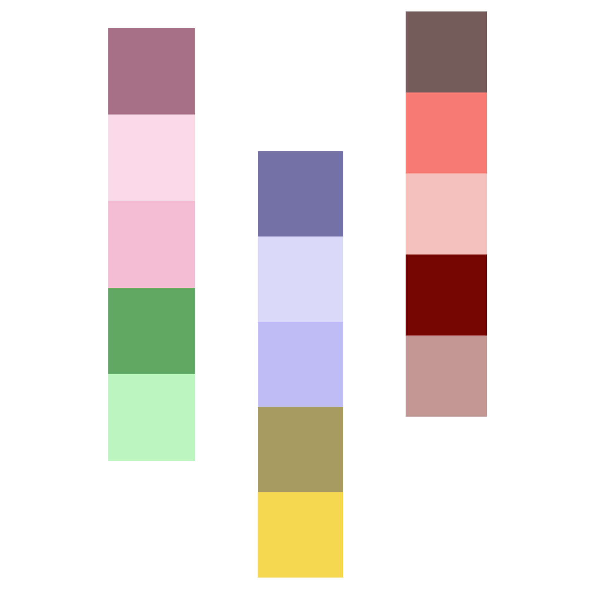 Colour swatches complimenting design